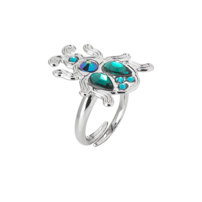Adjustable ring with scarab