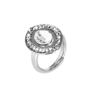 Navette ring with Swarovski crystal