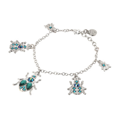 Bracelet with charms in the shape of a scarab