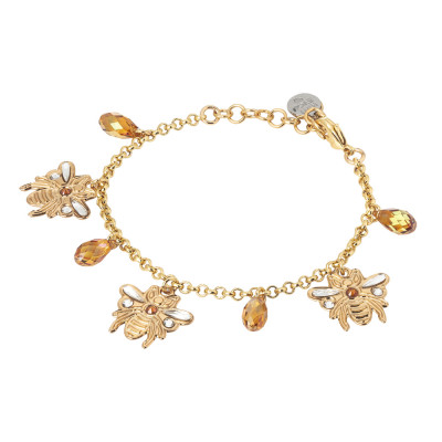 Bracelet with bees and Swarovski