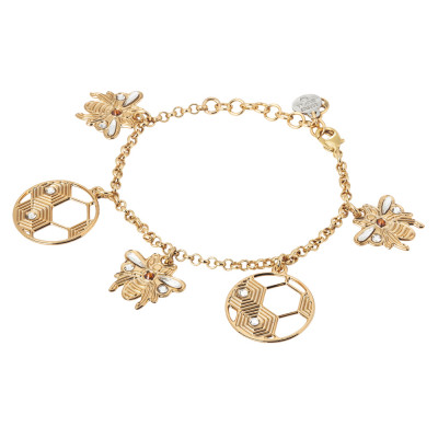 Bracelet with bees and honeycombs