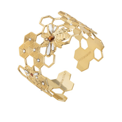 Rigid bracelet with bees