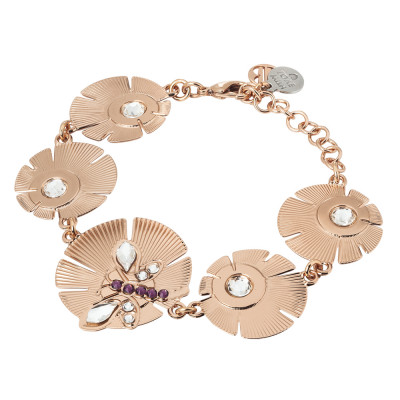Bracelet with flowers and dragonfly