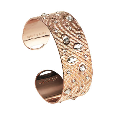 Rigid band bracelet with Swarovski crystal