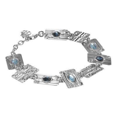 Modular bracelet with blue Swarovski