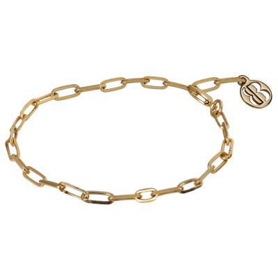 Yellow gold plated chain bracelet