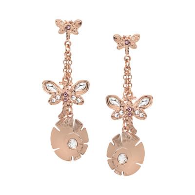 Earrings with double pendant