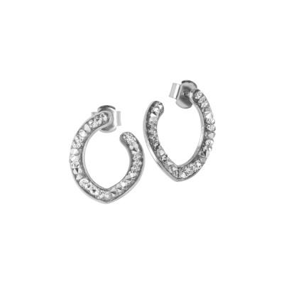 Navette earrings with Swarovski