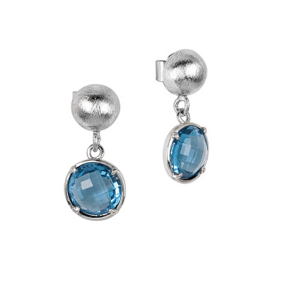 Earrings with sky crystals