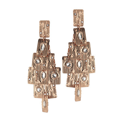 Chandelier earrings with Swarovski crystal