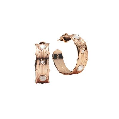 Hoop earrings with Swarovski crystal