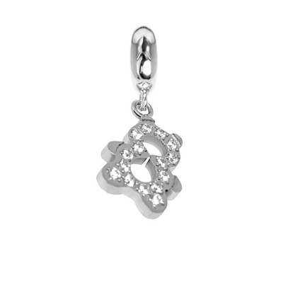 Charm with teddy bear with zircons