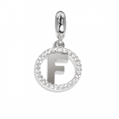 Circular charm in zircons with letter F