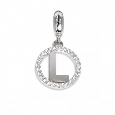 Circular charm in zircons with letter L