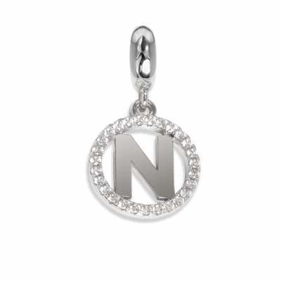 Circular charm in zircons with letter N