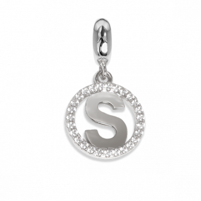 Circular charm in zircons with letter S